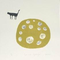 Cat and hydrangea (p06) £30